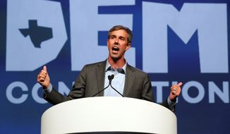 Democratic candidate for Senate Beto O'Rourke recently made an appearance on Ellen DeGeneres' talk show and Stephen Colbert's late night show. (Associated Press)