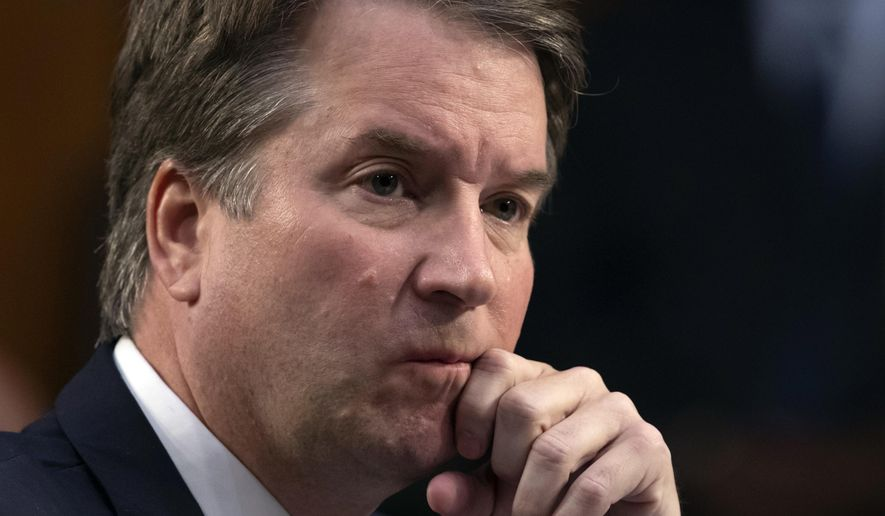 """Brett M. Kavanaugh, Supreme Court nominee, and a fellow Georgetown Preparatory School student, """"corralled"""" Christine Blasey Ford in a bedroom at a party in the early 1980s and tried to sexually assault her, she told The Washington Post. (Associated Press/File)"""