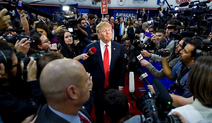 Broadcasters use tons of adjectives to portray President Trump as hot-headed or unstable according to a new nine-month study of evening news coverage. (AP Photo)