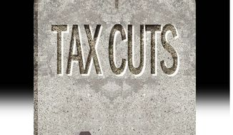 Illustration on making tax cuts permanent by Alexander Hunter/The Washington Times
