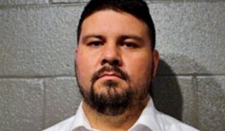 FILE - This March 16, 2017, file photo, provided by the Cleveland County Sheriff's Office in Norman, Okla., shows Ralph Shortey. The former Republican state senator is scheduled to be sentenced Monday, Sept. 17, 2018, on a child sex trafficking charge. (Cleveland County Sheriff's Office via AP, File)