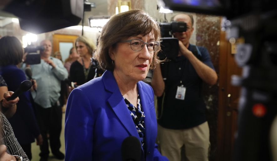 Sen. Susan Collins, Maine Republican and chief sponsor of the bill, says too many Americans are overpaying because pharmacists can only divulge the cheaper option if the customer specifically asks about it. (AP Photo/Pablo Martinez Monsivais)