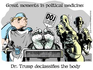 Dr. Trump declassifies the body