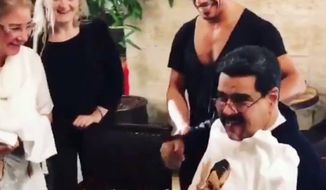 Sen. Marco Rubio is encouraging people to flood a Miami restaurant with calls after owner Nusret Gokce, nicknamed Salt Bae, hosted Venezuelan President Nicolas Maduro for a lavish steak dinner in Turkey while his own country starves. (Twitter/@Yusnaby)