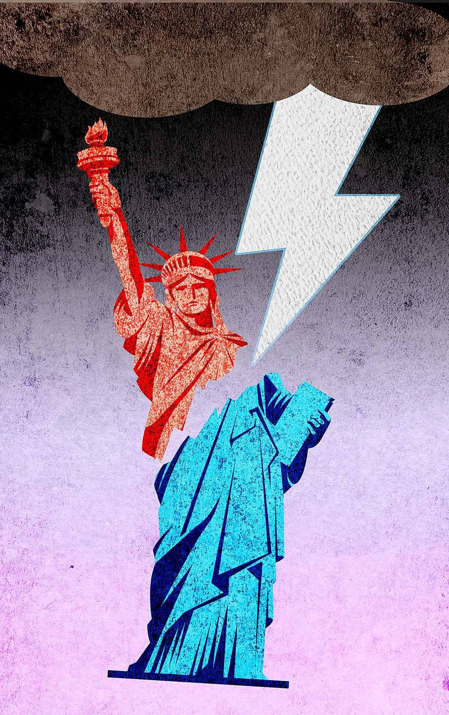 Liberty Struck Illustration by Greg Groesch/The Washington Times