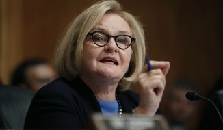 Sen. Claire McCaskill, D-Mo., speaks during a hearing on Capitol Hill in Washington.  (AP Photo/Pablo Martinez Monsivais, File)