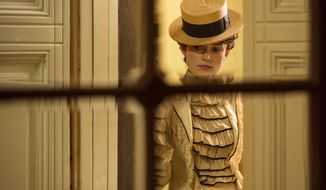 "This image released Bleecker Street shows Keira Knightley in a scene from ""Colette."" (Robert Viglasky/Bleecker Street via AP)"