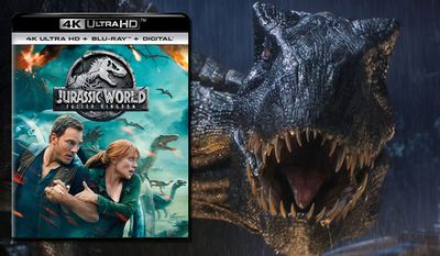 """The indoraptor strikes in """"Jurassic World: Fallen Kingdom,"""" now available on 4K Ultra HD from Universal Studios Home Entertainment."""