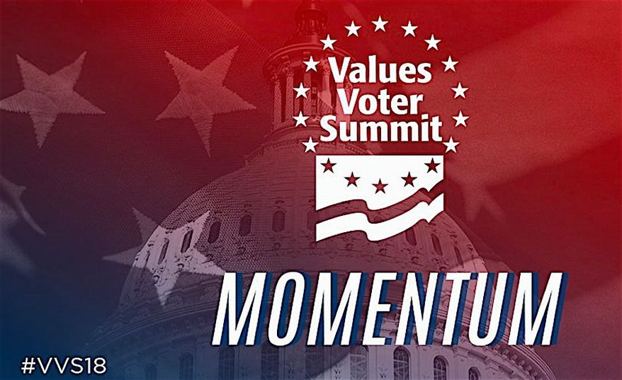 """The 12th annual Values Voters Summit has arrived in the capital to emphasize the """"momentum"""" and lasting power of America's values. (Family Research Council)"""
