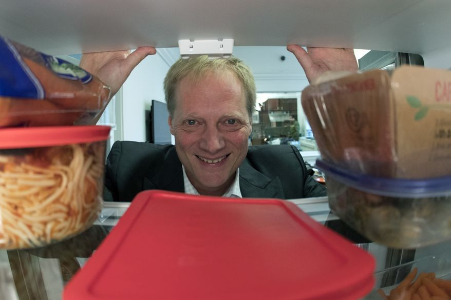In this Dec. 6, 2016, photo, Brian Wansink poses for a photo in a food lab at Cornell University in Ithaca, N.Y. (Associated Press) **FILE**