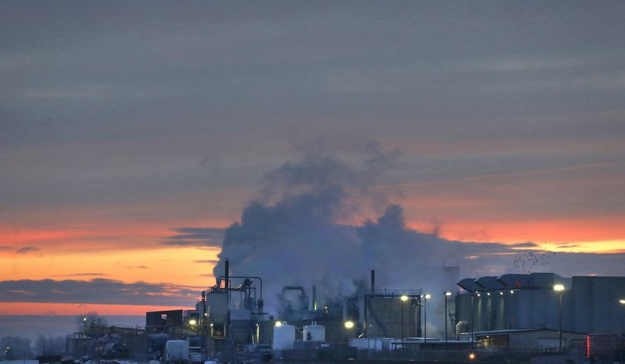FILE - In this Jan. 11, 2016 file photo, dawn approaches over the meat processing plant owned and run by Cargill Meat Solutions, in Fort Morgan, a small town on the eastern plains of Colorado. The U.S. Department of Agriculture announced Wednesday, Sept. 20, 2018, that the company has recalled more than 132,000 pounds of ground beef after a deadly E. coli outbreak. The beef was produced on June 21 and shipped to retailers nationwide under several brands. (AP Photo/Brennan Linsley, File)