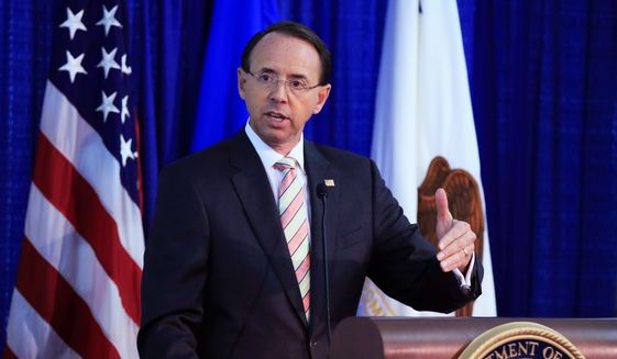 Deputy Attorney General Rod Rosenstein reportedly suggested in May 2017 that he wear a wire and secretly record his conversations with President Trump. (Associated Press/File)