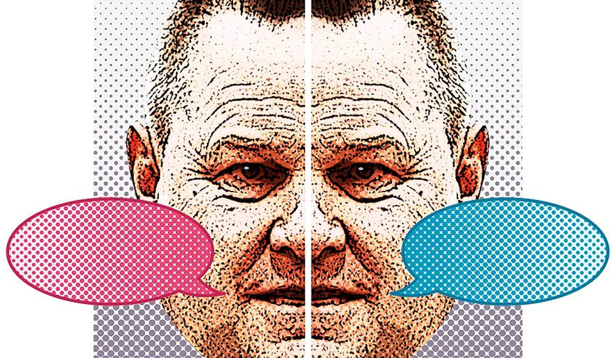 Two-Faced Jon Tester Illustration by Greg Groesch/The Washington Times