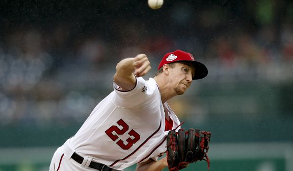 Washington Nationals pitcher Erick Fedde pitches in the first inning of a baseball game against the New York Mets at Nationals Park, Sunday, Sept. 23, 2018, in Washington. (AP Photo/Andrew Harnik)
