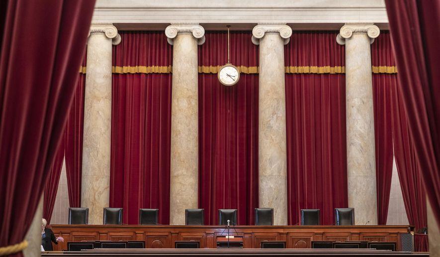 The Supreme Court is seen in Washington, Friday, Sept. 21, 2018. (AP Photo/J. Scott Applewhite)