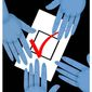 Illustration on vote tampering by Alexander Hunter/The Washington Times