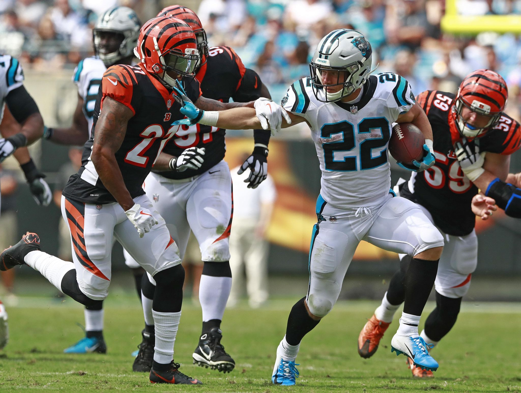 Bengals run defense stumbles in 31-21 loss to Panthers - Washington Times