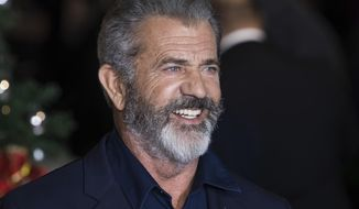 """In this Nov. 16, 2017, file photo, Mel Gibson arrives at the premiere of """"Daddys Home 2,"""" in London. (Photo by Vianney Le Caer/Invision/AP, File)"""