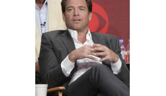 """FILE - In this Aug. 10, 2016, file photo, Michael Weatherly participates in the """"Bull"""" panel during the CBS Television Critics Association summer press tour in Beverly Hills, Calif. Weatherly is a fixture at CBS. He played Anthony DiNozzo on """"NCIS"""" from 2001 until 2016, when he left to star in his own CBS series called """"Bull."""" It's that history with the network that Weatherly says makes it difficult to comment on Les Moonves' resignation earlier this month as chief of CBS amid sexual misconduct allegations.  (Photo by Richard Shotwell/Invision/AP, File)"""
