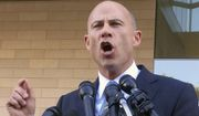 """Michael Avenatti, attorney for porn actress Stormy Daniels, talks to reporters after a federal court hearing in Los Angeles, Monday, Sept. 24, 2018. Judge S. James Otero appears poised to toss out a defamation lawsuit against President Donald Trump by Daniels, whose real name is Stephanie Clifford. Otero said that a tweet the president wrote in April appears to be """"rhetorical hyperbole"""" and protected speech. (AP Photo/Amanda Lee Myers)"""