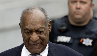 "Bill Cosby departs after a sentencing hearing at the Montgomery County Courthouse, Monday, Sept. 24, 2018, in Norristown, Pa. Cosby's chief accuser on Monday asked for ""justice as the court sees fit"" as the 81-year-old comedian faced sentencing on sexual assault charges that could make him the first celebrity of the #MeToo era to go to prison. (AP Photo/Matt Slocum)"