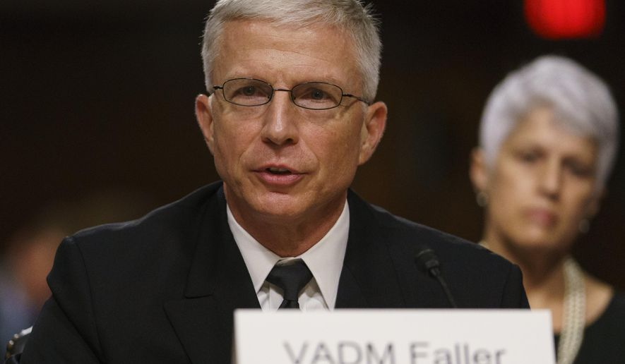 Navy Vice Adm. Craig Faller testifies before the Senate Armed Services Committee on Capitol Hill in Washington, Tuesday, Sept. 25, 2018.  Faller is nominated to take over U.S. Southern Command. (AP Photo/Carolyn Kaster)