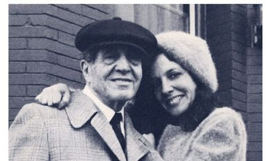 """Suzanne Fields with her father, Samuel """"Bo"""" Bregman."""
