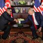 "President Trump said he would meet with North Korean leader Kim Jong-un in the ""very near future"" and would announce a time and place soon. (Associated Press/File)"