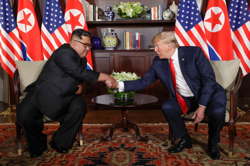 """President Trump said he would meet with North Korean leader Kim Jong-un in the """"very near future"""" and would announce a time and place soon. (Associated Press/File)"""