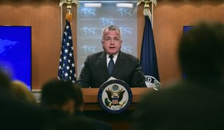 John J. Sullivan, who been deputy secretary of state since Mike Pompeo took over as America's top diplomat four months ago, who officials say may be the most vital player on the Trump administration's team this week. (Associated Press)