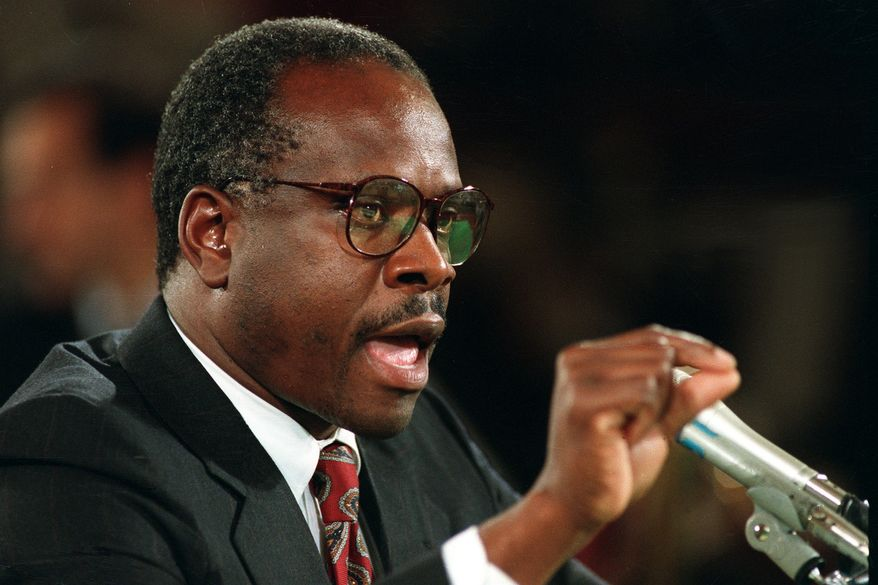 The Senate Judiciary Committee hearings for Supreme Court nominee Clarence Thomas riveted Americans in 1991. The way Democrats treated allegations of sexual harassment turned away and even radicalized Andrew Breitbart. (Associated Press/File)