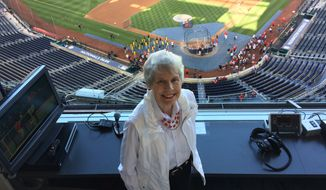 Diane Headlee has been an attendant in the Shirley Povich Media Center since Nationals Park opened in 2008. The Maryland resident was an usher at RFK Stadium when the Nationals played there from 2005 to 2007. The Ohio State graduate coached basketball at American University and at Maryland high schools. Photo by David Driver for The Washington Times