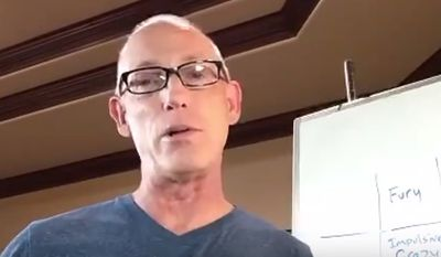 Cartoonist and political commentator Scott Adams discusses Judge Brett Kavanaugh's chances of being confirmed to the U.S. Supreme Court in a video posted on social media channels Sept. 25, 2018. (Image: Twitter, Scott Adams video screenshot)