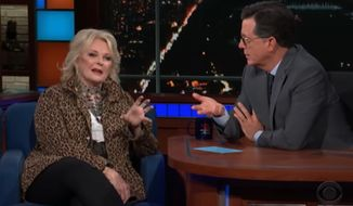 "Candice Bergen says she owes her recent ""Murphy Brown"" success to President Trump, telling ""The Late Show"" host Stephen Colbert Wednesday night that the show never would have come back if Hillary Clinton had won the presidency. (CBS)"