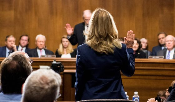 Christine Blasey Ford's emotional testimony in front of the Senate Judiciary Committee on Thursday had viewers glued to their televisions across the country. (Associated Press)
