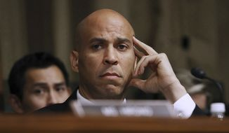 "Cory Booker, aka ""Spartacus,"" aka ""Caligula."" (Associated Press)"