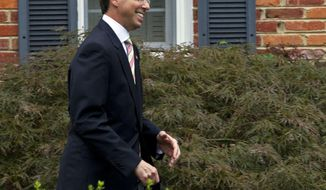 Deputy Attorney General Rod Rosenstein leaves his home on Thursday, Sept. 27, 2018 in Bethesda, Md. President Donald Trump's meeting with the deputy attorney general may or may not happen Thursday as originally planned, but Trump says he'd prefer not to fire Rosenstein regardless (AP Photo/Jose Luis Magana)