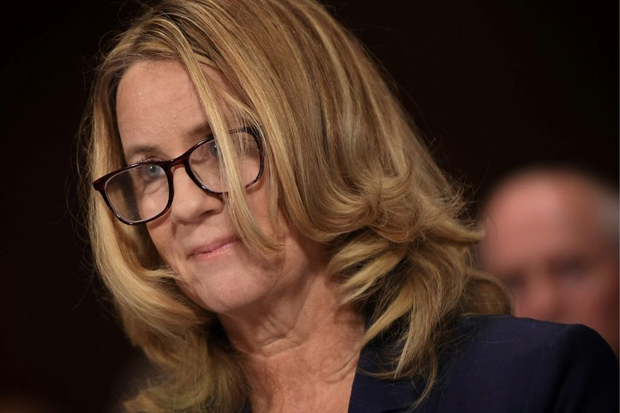 Christine Blasey Ford claimed that Supreme Court nominee Brett M. Kavanaugh sexually groped her 36 years ago when he was 17. (Associated Press/File)