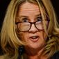 Christine Blasey Ford accused now-Supreme Court Justice Kavanaugh of sexually assaulting her 36 years ago, but her story could not be corroborated. (Associated Press/File)