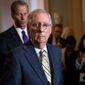 """""""It shouldn't take long,"""" said Senate Majority Leader Mitch McConnell said of the Kavanaugh background check. """"That'll not be used as another reason for delay, I can tell you that,"""" he added."""