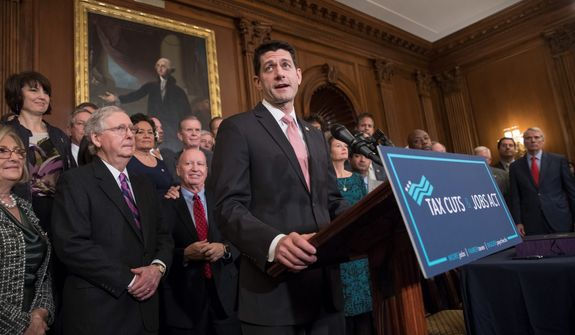 Polling has shown that the public could be coming around on the tax code overhaul, as Republicans predicted when they passed the tax cut package late last year when it was significantly less popular. GOP candidates want to run on the issue. (Associated Press photographs)