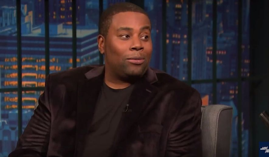"Comedian Kenan Thompson discusses Kanye West's appearance on ""Saturday Night Live"" with Seth Meyers, Oct. 1, 2018. (Image: YouTube, 'Late Night with Seth Meyers' screenshot)"