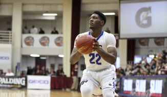 IMG Academy's Silvio De Sousa #22 in action against Wasatch Academy during a high school basketball game at the 2017 Hoophall Classic on Sunday, January 15, 2017, in Springfield, MA. (AP Photo/Gregory Payan) **FILE**