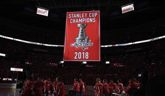 2e9387547c0 Capitals raise Stanley Cup banner to kick off new season - Washington Times
