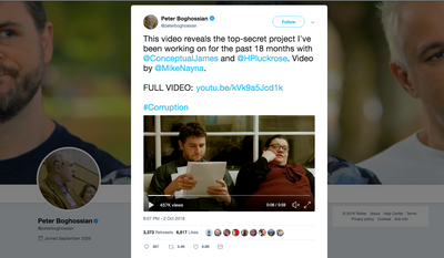 """Led by Peter Boghossian, an assistant professor of philosophy at Portland State University in Oregon,  a trio of self-declared """"left-wing academics"""" ran a research project exposing what they call higher education's burgeoning field of """"grievance studies.""""  (Screengrab from Peter Boghossian's Twitter account)"""