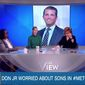 "Whoopi Goldberg and her co-hosts on ""The View"" discuss Donald Trump Jr. and his family, Oct. 2, 2018. (Image: YouTube, ""The View"" screenshot)"
