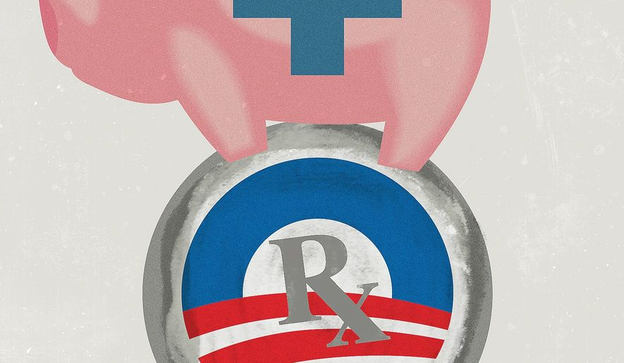Obamacare Financial Decisions Illustration by Linas Garsys/The Washington Times