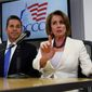 """""""I've been clear that I believer we'll pick up the House,"""" said Rep. Ben Ray Lujan. """"I never said it would be easy, I always said that it would be tough and that we'd have to fight for every seat,"""" he said. He is the chairman of the Democratic Congressional Campaign Committee. The midterm election is Nov. 6. (Associated Press)"""