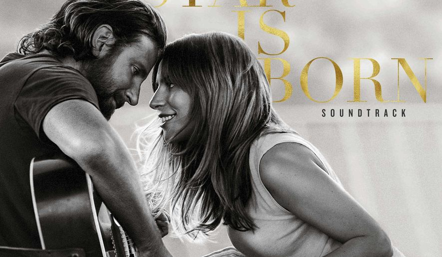 "This cover image released by Interscope Records shows the original motion picture soundtrack for ""A Star is Born,"" featuring Bradley Cooper and Lady Gaga. (Interscope Records via AP)"