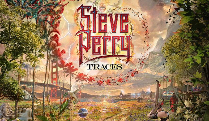 "This cover image released by Fantasy Records shows ""Traces,"" the latest release by Steve Perry. (Fantasy Records via AP)"